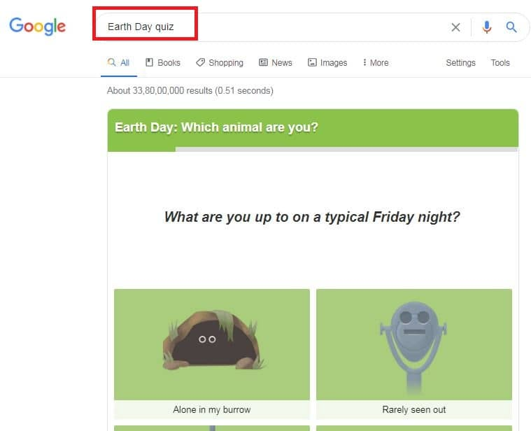 google-search-earth-day-quize-fun-game