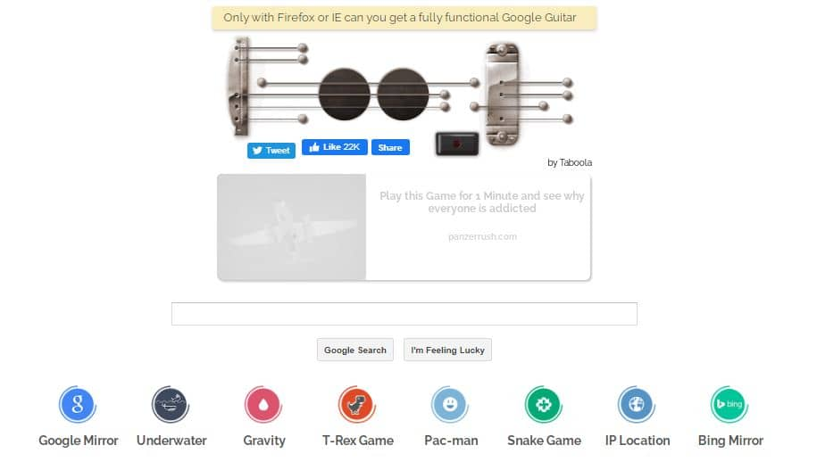 google-search-engine-with-guitar-shape