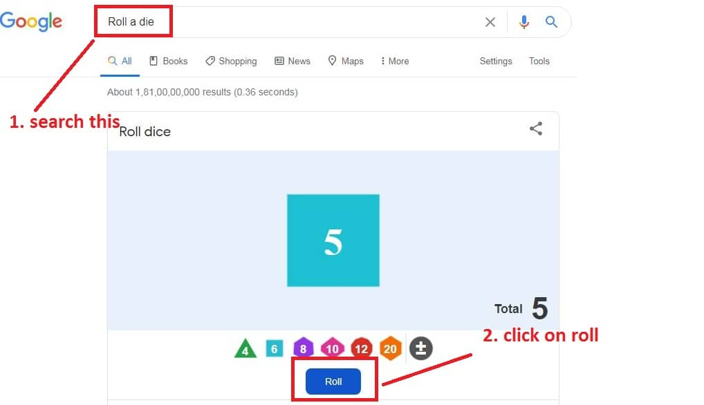 google-roll-a-dice-search-funny-tools-appear-with-a-dice-with-6-number-maximum