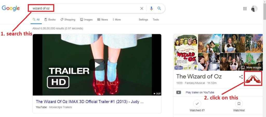 the-wizard-of-oz-google-search-trick