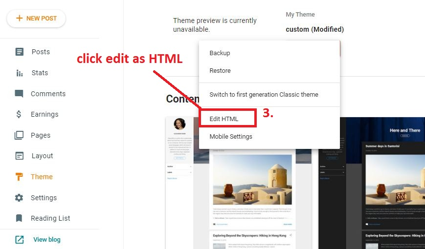 clicking-on-edit-as-html-in-new-blogger-interface-step-3