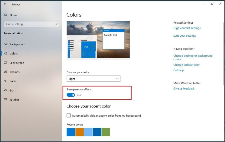 disabling-windows-10-visual-transparency-effects-to-increase-pc-performance
