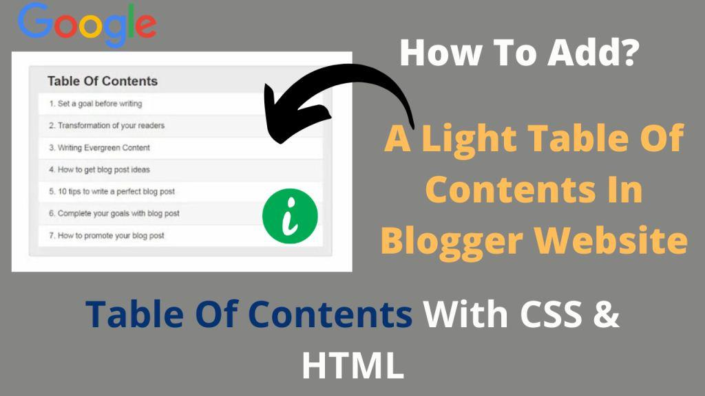 how-to-add-a-light-table-of-contents-in-blogger-website-with-css-and-html-text-image