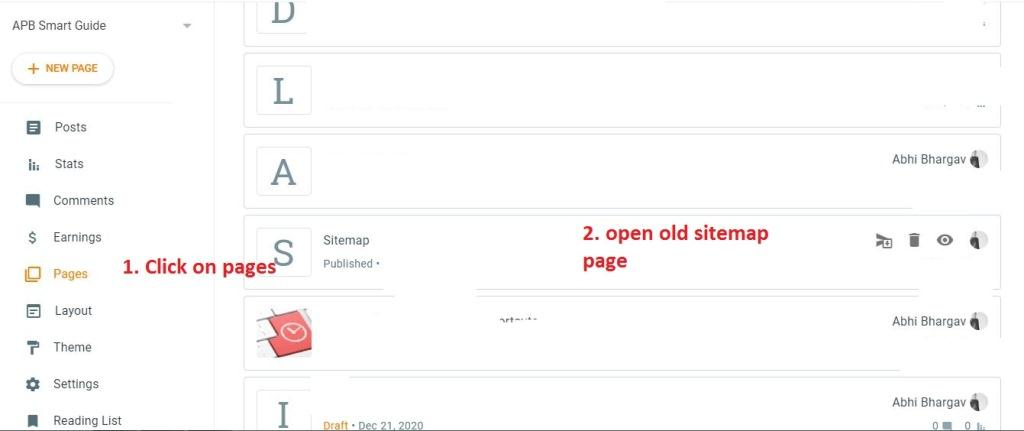 opening-old-blogger-sitemap-page-by-blogger-dashboard